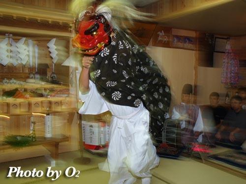 厚沢部 椰子乃木神社 獅子舞