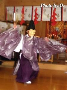 上湯川稲荷神社 翁舞 2005