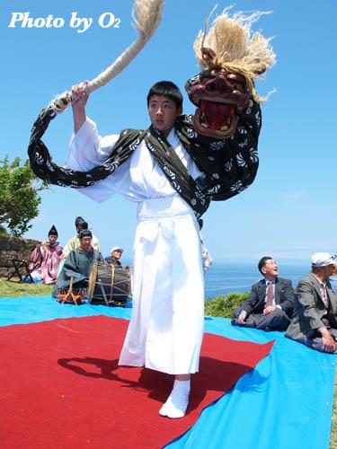 上ノ国町 夷王山神社 神楽舞