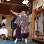 函館市 安浦稲荷神社 松前神楽 注連祓舞 2006