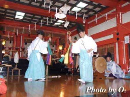 平成18年 函館市 大森稲荷神社 松前神楽 神遊舞