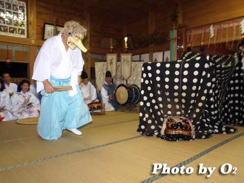 平成19年 福島大神宮宵宮祭 松前神楽 十二の手獅子舞・面足獅子