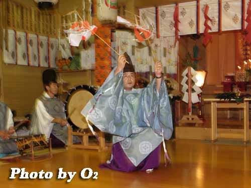 平成19年 上湯川稲荷神社 宵宮祭 福田舞