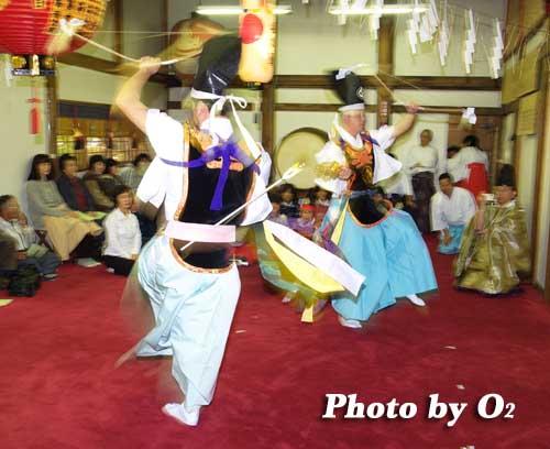 平成19年 小樽市 小樽ブロック合同公演 小樽稲荷神社 神遊舞