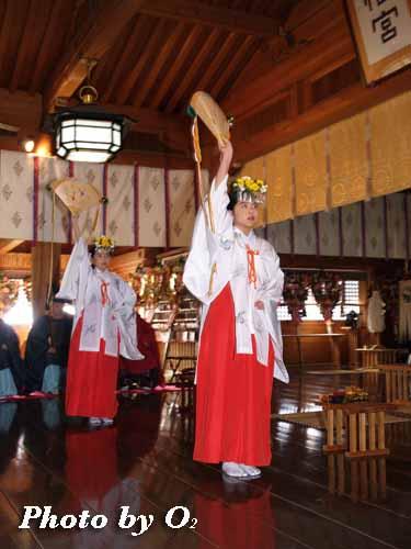 平成19年 函館市 函館八幡宮 神楽 浦安の舞