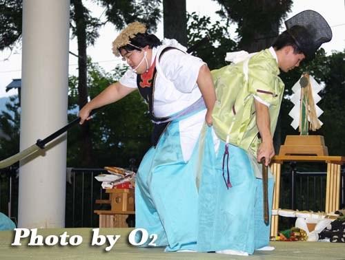 平成20年 福島町 かがり火コンサート 追悼松前神楽 兵法舞