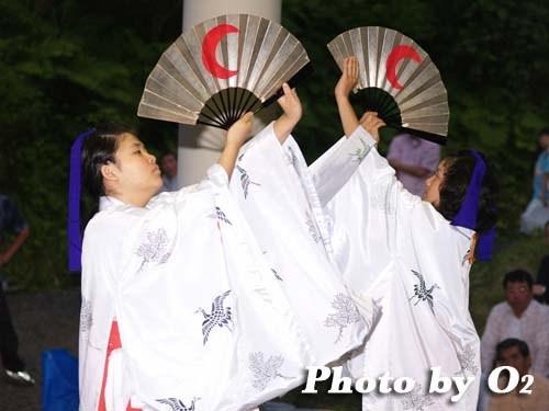 平成20年 福島町 かがり火コンサート 追悼松前神楽 八乙女舞