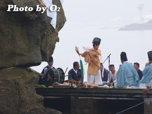 平成20年 北海道 江差町 かもめ島まつり 神楽舞奏上