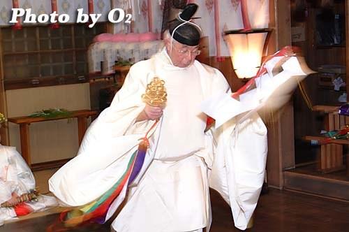 平成20年 函館市 豊川稲荷神社宵宮歳 松前神楽 榊舞