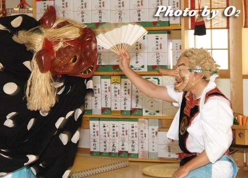平成20年 鹿部町 本別稲荷神社 松前神楽 十二の手獅子舞・面足獅子