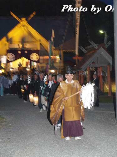 せたな町 事比羅神社 宵宮祭 行列