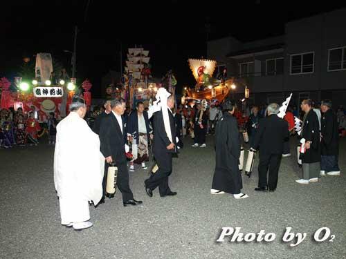 せたな町 事比羅神社 宵宮祭 行列 山車
