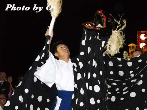 せたな町 事比羅神社 宵宮祭 松前神楽 十二の手獅子舞五方