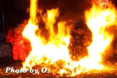 平成21年 古平町 琴平神社例祭 獅子 火渡り