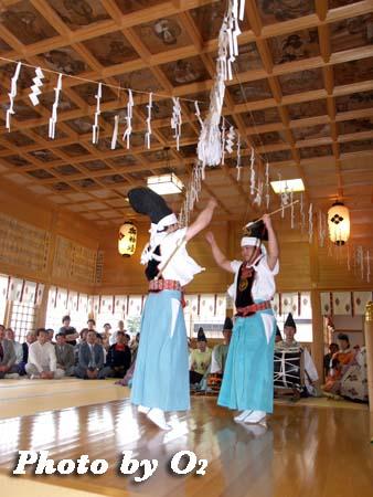 鹿部稲荷神社,松前神楽,神遊舞