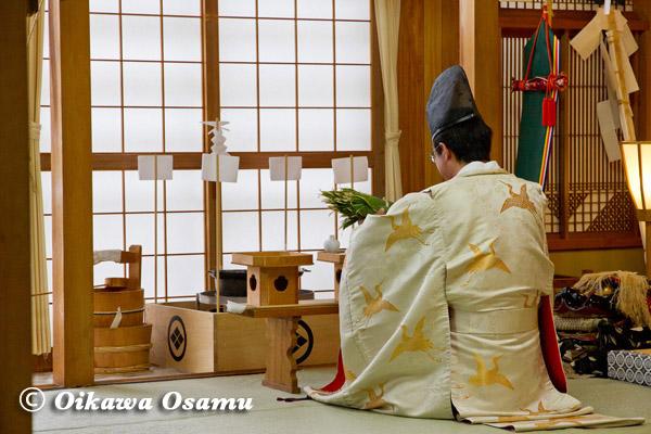 川濯神社敬神婦人講 松前神楽 鎮釜湯立式