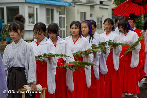 福島町 福島大神宮渡御祭 2013 神社行列 巫女