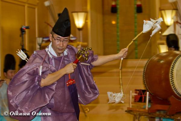 札幌村神社 2013 宵宮祭 神楽舞 神遊舞