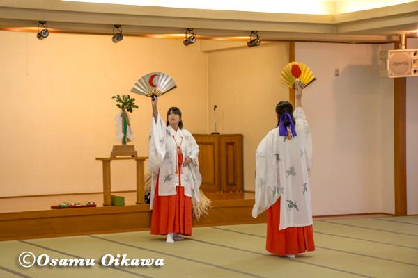 矢野旅館 招待神楽 八乙女舞