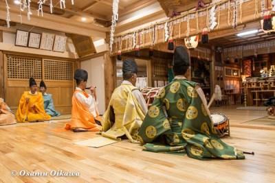 平成28年 尻岸内八幡神社 鎮座400年祭 松前神楽 神楽始