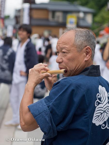 蛭子山 笛吹き 新出篤さん 2012