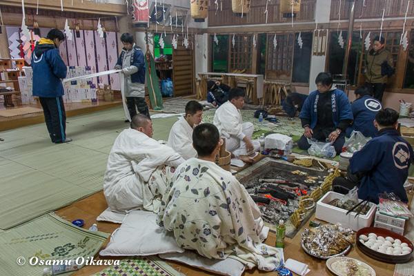 平成29年 木古内町 佐女川神社 寒中みそぎ祭 本殿の様子