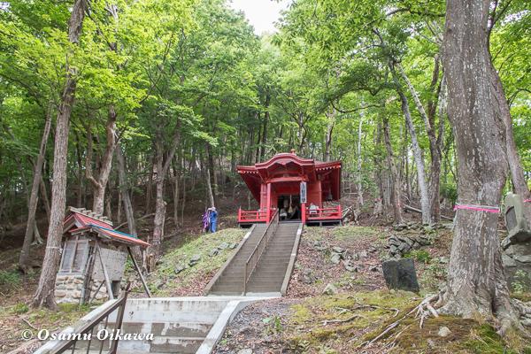 平成29年 洞爺湖 観音堂 見上げる