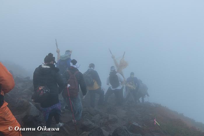 平成29年 青森県弘前市 お山参詣 岩木山にて 下山風景