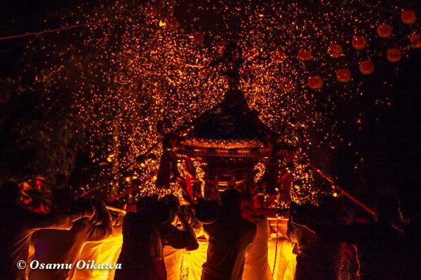 平成30年 美国町 美国神社 例大祭 2日目 神輿 火渡り