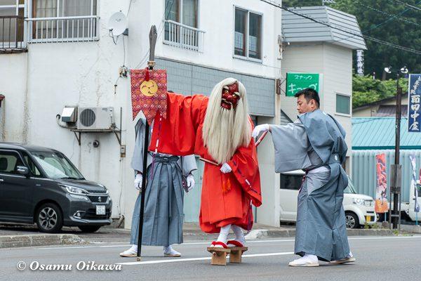 平成30年 古平町 琴平神社 例大祭 宵宮祭 猿田彦 睨み
