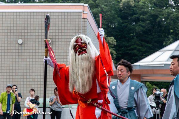 平成30年 古平町 琴平神社例大祭 二日目 渡御祭 雨上がり 猿田彦