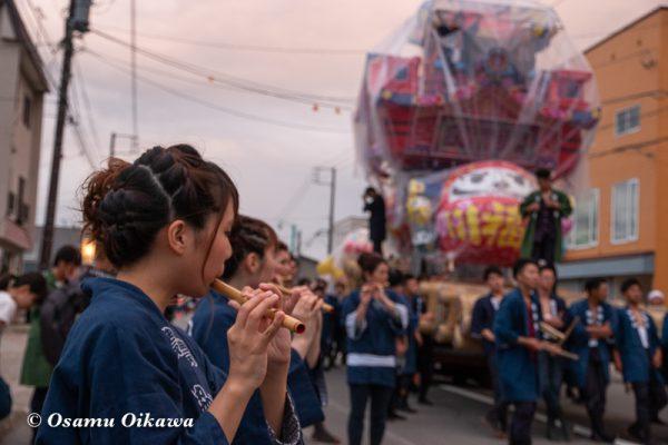 平成30年 沼田町 夜高あんどん祭り 初日 大型あんどん点灯・練行01