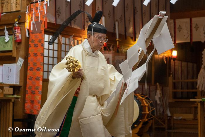 平成30年 北斗市 上磯八幡宮 宵宮祭 松前神楽 榊舞
