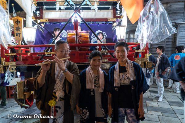 平成30年 江差町 姥神大神宮渡御祭 下町巡行 山車 夜の巡行 蛭子山 写真撮影