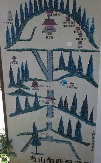 杉本寺境内マップ