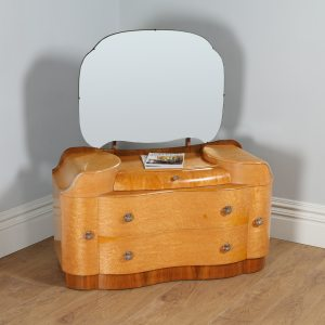 Art Deco Style Birds Eye Maple Dressing Table by Supersuite (Circa 1960)