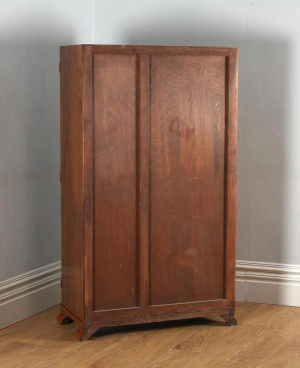 Antique English Art Deco Burr Walnut Two Door Compactum Wardrobe (Circa 1930) - yolagray.com