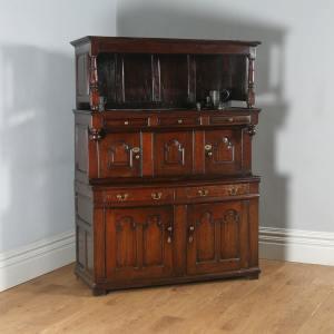 Antique North Welsh George I Oak Cwpwrdd Tridarn Cupboard (Circa 1740) - yolagray.com