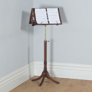 Antique Georgian Regency Mahogany & Satinwood Inlaid Folding Duet Music Stand (Circa 1830) - yolagray.com