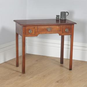 Antique English Georgian Mahogany Occasional Hall Side Lowboy Table (Circa 1800) - yolagray.com