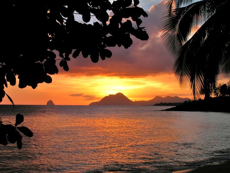 coucher de soleil martinique