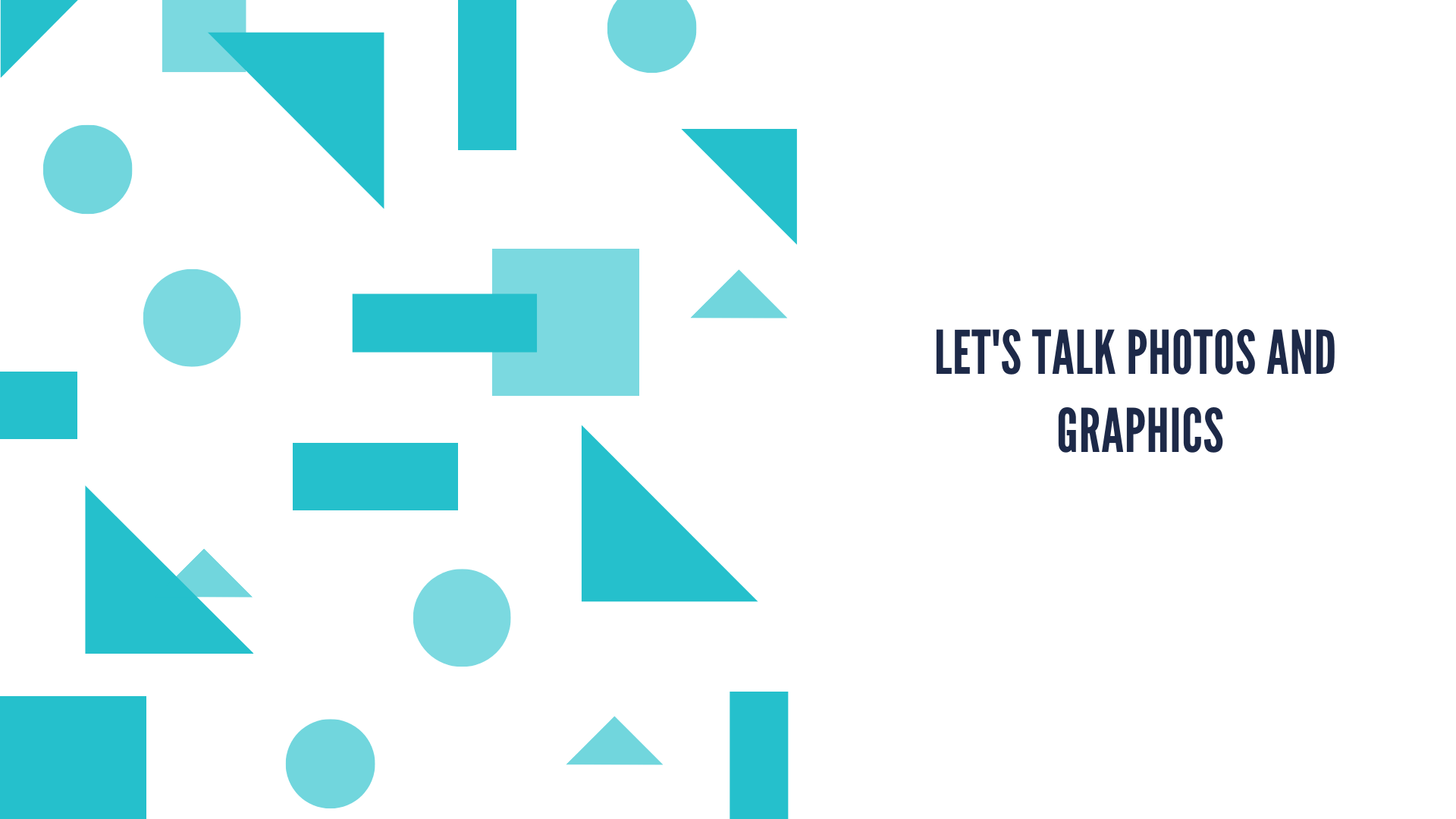 Let's Talk Photos and Graphics