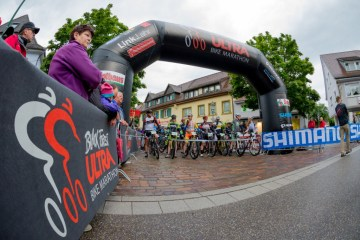 Startbereich des Black Forest Ultra Bike Marathon