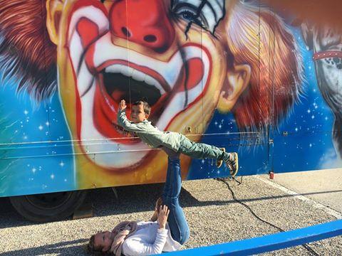 AcroYoga Family, Akrobatik mit Kindern, Eltern-Kind Yoga