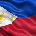 Highly detailed flag of Philippines waving in the wind.