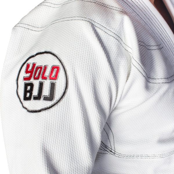 Comp450 BJJ gi white sleeve detail