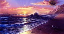 high-tide-on-sunset-cool-scenery-wallpapers-t