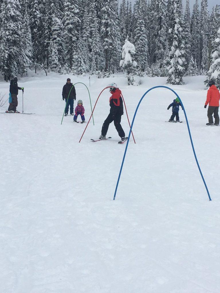 kids skiing, big white ski resort, bunny hill