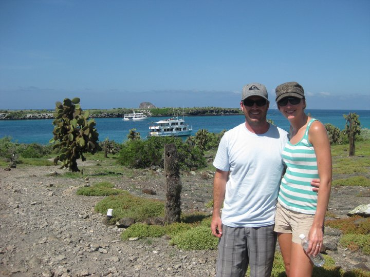 hiking at South Plaza Island, Galapagos