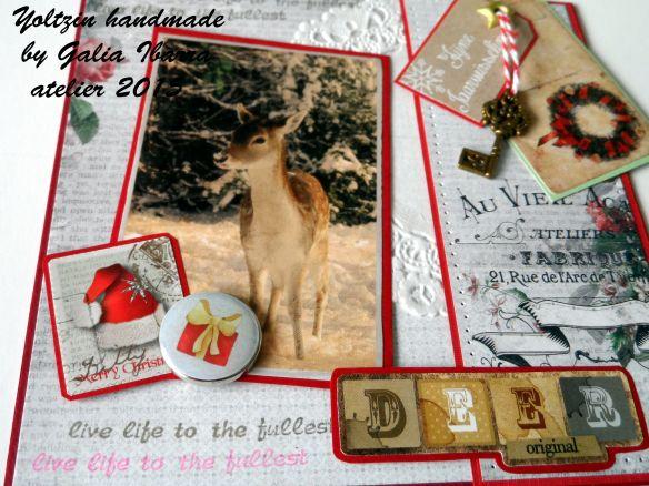 Christmas card - Yoltzin handmade - Scrapberry's